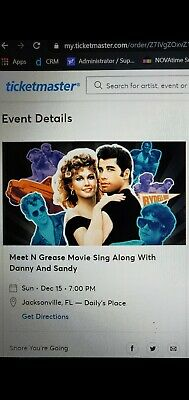 Watch Travolta & Newton-John Perform LIVE!!! Two tickets to be sold together.