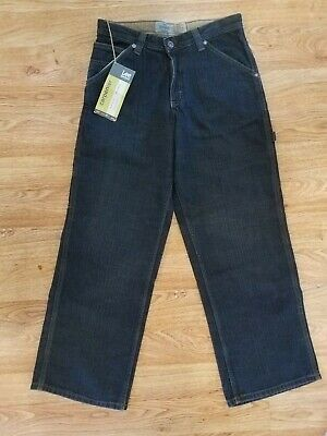 Lee Dungarees Carpenter Boys Dark Wash Jeans sz 16R Adjustable waistband NWT