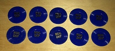 Lot Of 10 Caesars Palace Meal Chip Las Vegas Casino Hotel obs Rare Vintage Chips