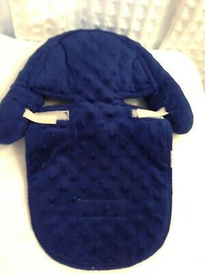 Blue Carseat Canopy Padded Dots Infant Baby Pillow Head Support Insert