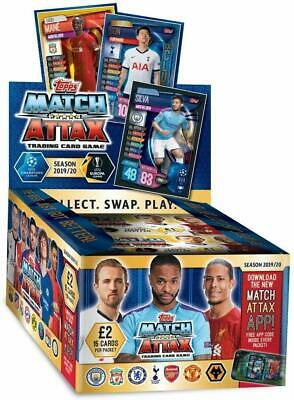 Topps Match Attax - Full Display Box, New Season 19/20 - 24 Packets, UK Edition