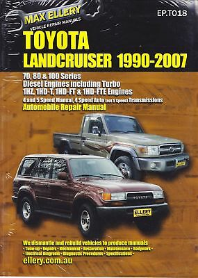 Max Ellery Repair Manual Toyota Landcruiser 1HZ 1HD Diesel 1990-2007 WORKSHOP