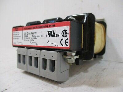 TCI KDRA4L KDR Drive Reactor 11A 3-Phase 600Hz 600V 11 Motor Amps 14A Max