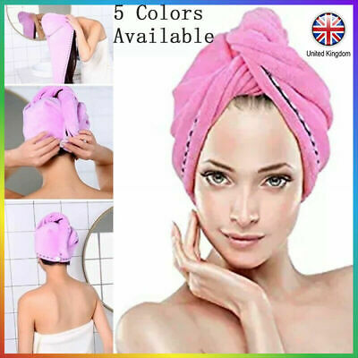 Rapid Drying Hair Towel Thick Absorbent Shower Button Cap Shower Hat Hair Layer