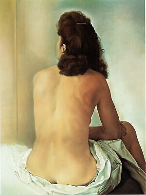 Gala nude,seen from behind Dali Poster Movie Poster Canvas Picture Art