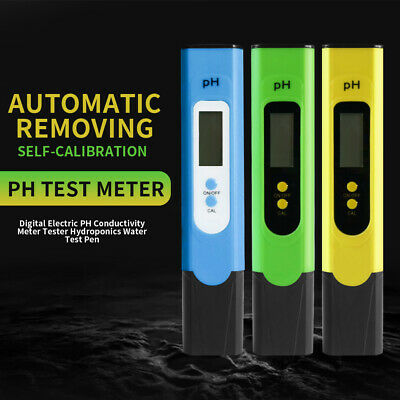 Digital Electric PH Conductivity Meter Tester Hydroponics Water Test Pen