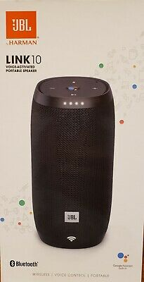 JBL Link 10 Voice-Activated Portable Speaker  Bluetooth Wireless Black Brand New