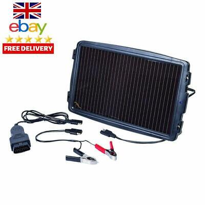 Aa Solar-Powered Car Battery Charger, Black