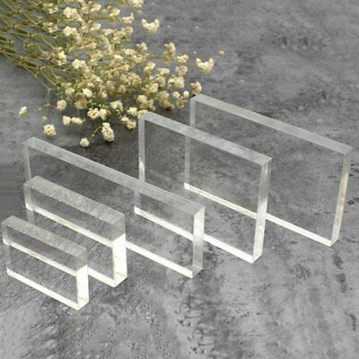 Lightweight Transparent Acrylic Stamp Block Rectangular Shape DIY Stamp Block Fy