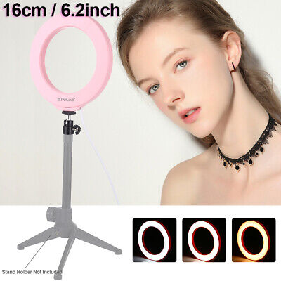 """6""""Studio LED Ring Light Tripod Stand Dimmable Photo Video Lamp Kit For Camera UK"""