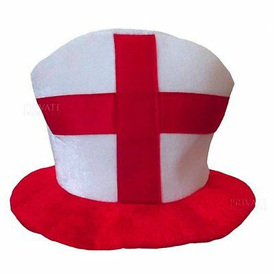 ST GEORGE PLASTIC BOWLER HATS ENGLAND FLAG RUGBY SPORT ACCESSORY FANCY DRESS LOT