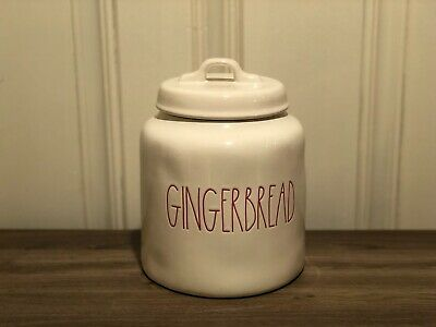 Rae Dunn Christmas By Magenta GINGERBREAD Chubby Farmhouse Canister, Medium Size