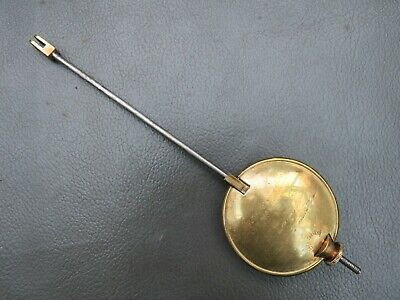 Antique French brass and metal clock pendulum - spares parts