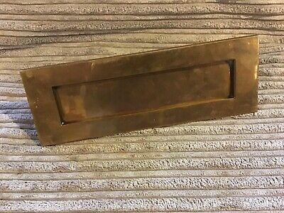 Letterbox old cast bronze deco Vintage reclaimed  FREE POST SIZE 265mm X 98mm