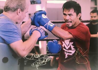 Manny Pacquiao Freddie Roach Signed Photo - Boxing Duo +COA