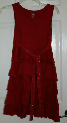 THE CHILDRENS PLACE GIRLS SLEEVELESS KNIT DRESS RED sz 14