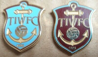 Thames Iron Works - West Ham United F.C 1895 Badges x Two (Free Postage UK)