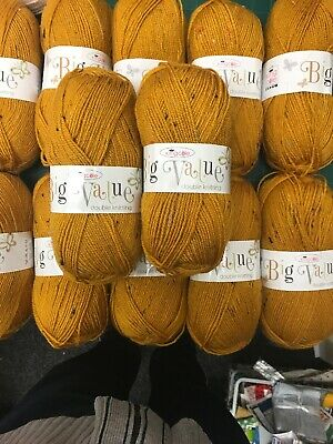 King Cole Big Value DK 12 X 100g Shade 3323 Amber