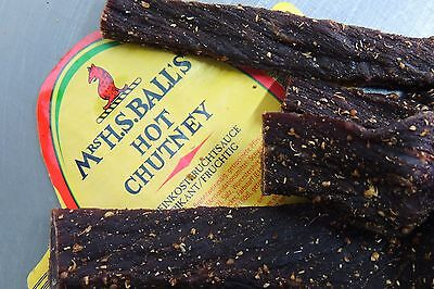 Biltong sliced, 400g Pack, Hot-Chutney WÜRZIG! 39,- €/Kg