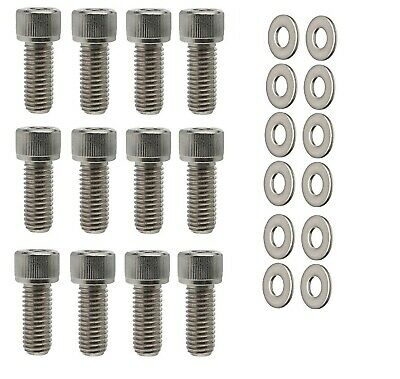 16 Ford Chrome Valve Cover Mini Stud Set Bolts Nuts Kit 351C 351M 400M