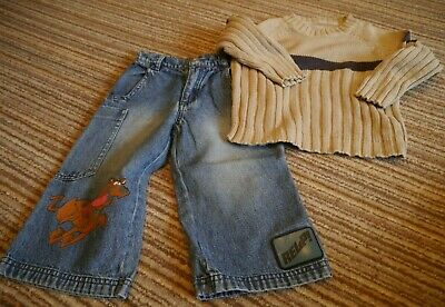 Boys jeans and jumper set Scooby Doo Mothercare 2-3 yrs