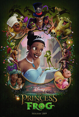 PRINCESS AND THE FROG MOVIE POSTER 2 Sided ORIGINAL Advance 27x40 DISNEY