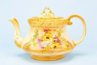 1900 Art Nouveau Teapot Gibson Floral Antique English Victorian Retro Decorative