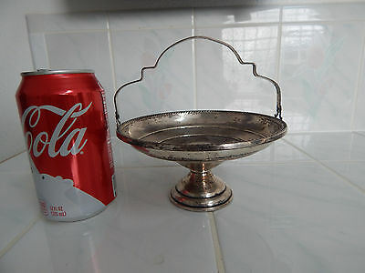 Sterling silver ELGIN  candy dish bon bon  compote handle pedestal basket