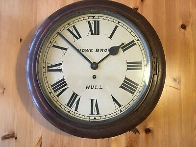 "Railway Station/ School Wall Clock. 15"", Howe Bros. Hull"