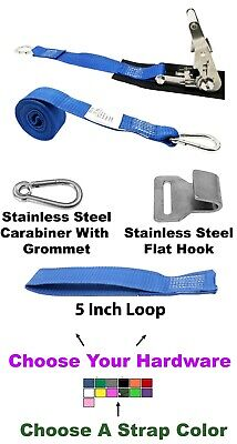 """1"""" x 10 '  Stainless Steel Ratchet Strap,Stainless Steel Carabiner,Pro Pad.4180"""