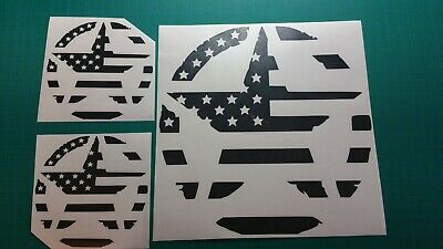 Army star decal set USA American flag distressed hood door fits jeep military