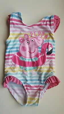 GEORGE baby girl 18-24 moths PINK BLUE PEPPA PIG one piece swimming costume