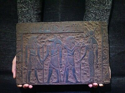 EGYPTIAN ANTIQUE ANTIQUITIES Bearing Gifts for Isis Stela Stele 1211-1277 BC