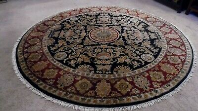 Fine Quality round Antique Wool Hand knotted Indo Persiann Rug Carpet Runner