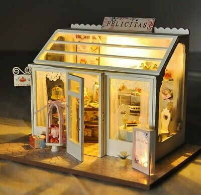 DIY Mini Loft Wooden 3D Dollhouse Kit Realistic House Room Toy Furniture Gift US