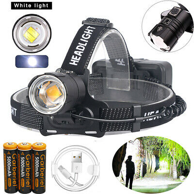 990000LM XHP70.2 LED Headlamp Headlight Lamp USB Rechargeable 18650 Super Bright