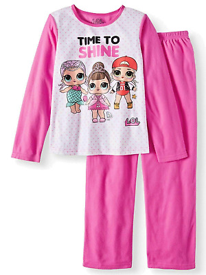 LOL Surprise Pajamas Size 4/5 Girls Long Sleeve Shirt Fleece Pants Doll XS-S NEW
