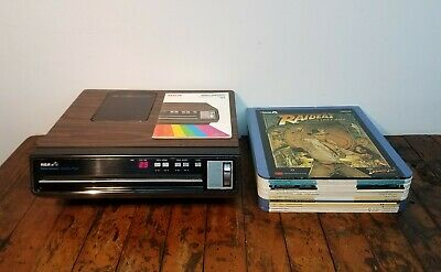 Vintage RCA SFT-100 SelectaVision VideoDisc CED Player w/ Manual & 14 CED Discs