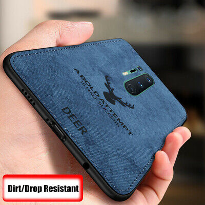 For OnePlus 7T Pro 7 6 6T 5 5T Luxury Fabric Hybrid Soft TPU Leather Case Cover
