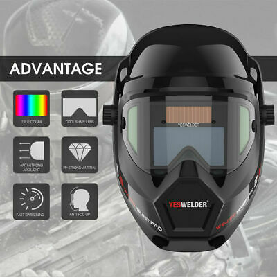 True Color Battery Powered Auto Darken Welding Helmet/MASK for MMA/MIG/TIG WELD
