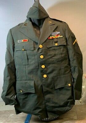 Vintage 1980'S  Army Uniform With Hat   Yt35