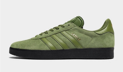 NEW Adidas Originals Gazelle Mens Trainers Green Khaki Limited Edition All Sizes
