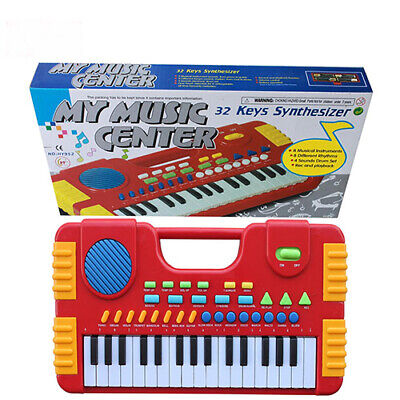 Kids Childrens 31 Key Electronic Synthesizer Keyboard Piano Musical Play Set Toy