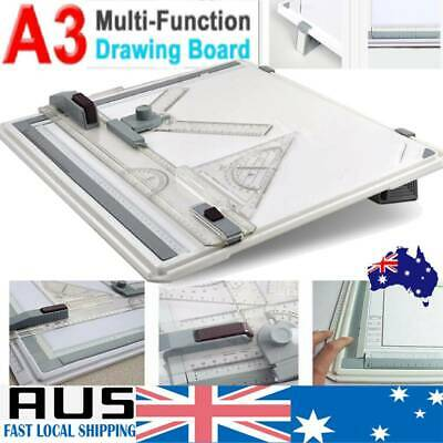 Portable Architect A3 Drawing Drafting Board Ruler Table Adjustable Angle Tool