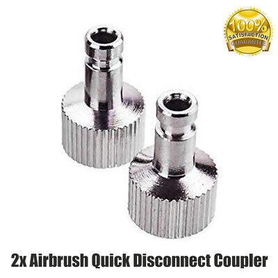 2x Airbrush Quick Disconnect Coupler Hose Connector Release Adapter Inlet Joint