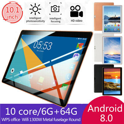 "10.1"" Inch Tablet Android 8.1 6G+64GB 10 Core  bluetooth WIFI Dual SIM Camera"
