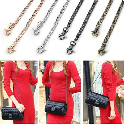 New Metal Purse Chain Strap Handle Shoulder Crossbody Bag Handbag Replacement ON