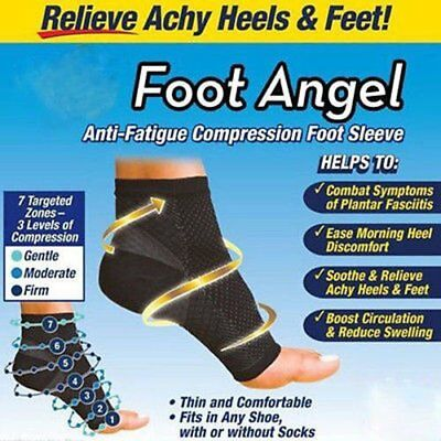 2 SLEEVES Foot Angel Type Anti-Fatigue Compression Plantar Fasciitis Relief M9