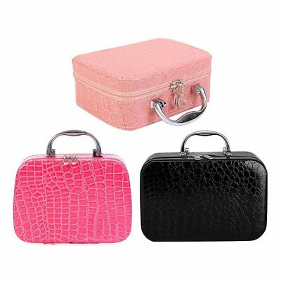 Professional Makeup Bag Portable Cosmetic Storage Case Travel Beauty Carry W2