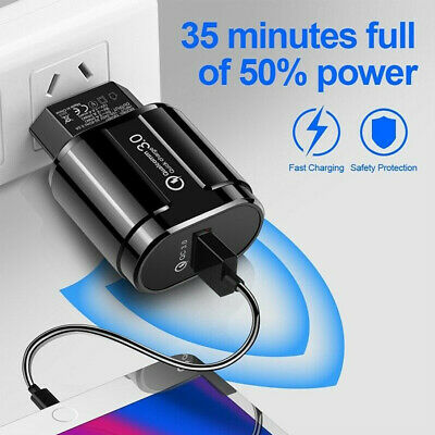 5V 3A Fast Quick Charge USB Port QC 3.0 EU US Plug Travel Wall Charger Adapter